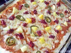 Pizza de frijoles, chorizo, piña y jalapeño- Pizza Mexicana - Pizza Ranchera o como la quieran llamar
