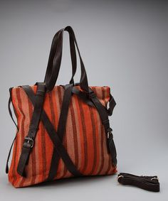 Take a look at this Orange Stripe Robi Shoulder Bag by Aryana on #zulily today!