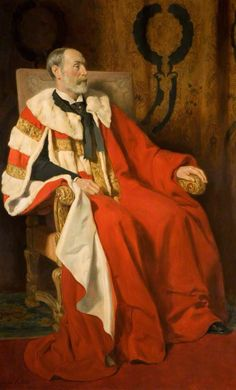 Edward George Percy Littleton (1842–1930), 3rd Baron Hatherton John Collier Painted: 1913 Oil on canvas, 183 x 119 cm Collection: Staffordshire County Picture Collection Full-length seated portrait of Edward George Percy Littleton, 3rd Baron Hatherton. Son of the 2nd Baron Hatherton, he married Lady Charlotte Louisa Rowley, daughter of the 4th Baronet Rowley, in 1867.  Chairman of the Quarter Sessions and the County Council of the County of Stafford. Staffordshire County Buildings