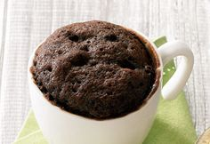 Gâteau #chocolat #noisettes dans une #tasse #mugcake