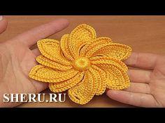 Learn to Crochet Irish Flower - Tutorial 31 Crochet Granny, Crochet Motif, Irish Crochet, Crochet Flowers, Crochet Lace, Patron Crochet, Irish Lace, Crochet Videos, Learn To Crochet