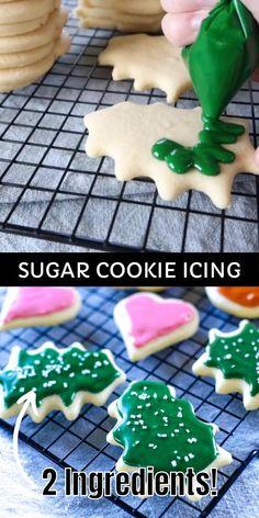 Christmas Sugar Cookies, Christmas Snacks, Christmas Cooking, Holiday Cookies, Frosting For Christmas Cookies, Gingerbread Cookies, Recipe For Gingerbread, Christmas Candy, Homemade Sugar Cookies