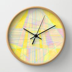 Structures Wall Clock by Dood_L - $30.00