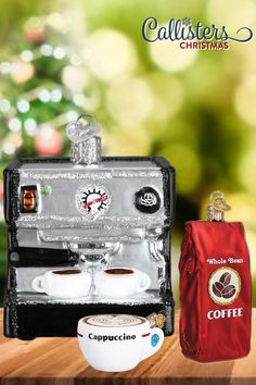 Coffee To Go, Coffee Break, Coffee Cups, Old World Christmas Ornaments, Christmas Tree Themes, Espresso Drinks, Premium Coffee, Coffee Drinkers, Personalized Christmas Ornaments