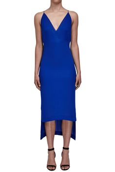 647ae58a8d Sheer Fine Line Cami Dress - MARINE