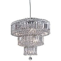Searchlight Vesuvius 9 Light Crystal Pendant Ceiling Fixture, Polished Chrome - None Ceiling Chandelier, Black Chandelier, Ceiling Pendant, Ceiling Fixtures, Ceiling Lights, Lighting Uk, Pendant Lighting, Modern Ceiling, Light Fittings