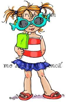 Mo's Digital Pencil - Summer Girl, $3.00 (http://www.mosdigitalpencil.com/summer-girl/)