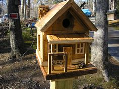 Cottage Style Birdhouse by TheBirdhouseShop on Etsy