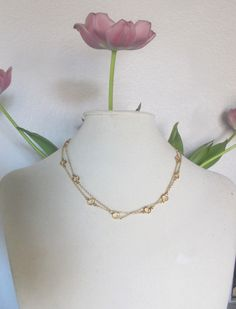Great gift for Mother's Day, or any day:)  Swarovski Gold Crystal Necklace Station Link Long by lunaCielo, $58.00