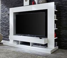 panorama drehbarer tv rack struktur aus wei hochglanz lackiertem holz living room. Black Bedroom Furniture Sets. Home Design Ideas