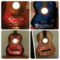 CUSTOM: Unique Guitar Lamp L.E.D Eco by ReviveItOnTheCoast