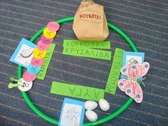 ΤΑ ΝΗΠΙΑ ΤΑΞΙΔΕΥΟΥΝ....7ο ΝΗΠΙΑΓΩΓΕΙΟ ΙΩΑΝΝΙΝΩΝ: Η ΜΑΓΙΚΗ ΜΕΤΑΜΟΡΦΩΣΗ... Butterfly Crafts, Insects, Lunch Box, Education, School, Spring, Bees, Facebook, Animals