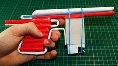 Mauser Pistol  - Paper Gun Shoots 5 Bullets