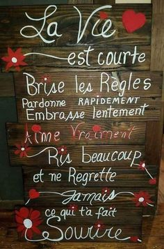 La vie... Positive Mind, Positive Words, Positive Attitude, Love One Another Quotes, Quote Citation, French Quotes, Sweet Words, Good Morning Quotes, Good Vibes Only