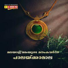 Kerala Jewellery, India Jewelry, Bridal Jewelry, Gold Jewelry, Gold Jhumka Earrings, Pearl Necklaces, Gold Necklace, Gold Pendant, Pendant Jewelry