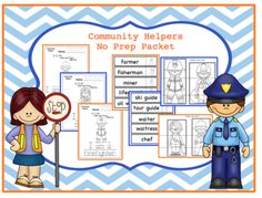 Community Helpers No Prep Packet from Preschool Printables on TeachersNotebook.com -  (38 pages)  - Tracing-coloring-cutting