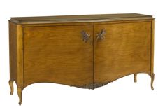 A-2525-401-ACHG Ascelina Sideboard available at French Heritage. A beautiful aged cherry finish and phenomenal hardware on this hand-crafted sideboard take the Ascelina's fine lines and curves to the next level.