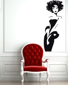 Wall Stickers Vinyl Decal Sexy Afro Classy Woman Beauty Salon Spa Decor For Living Room from $21.99