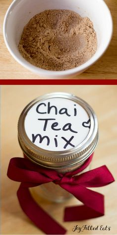 Instant Chai Tea Mix - Low Carb, THM S, FP & Dairy Free Options. Just mix this into a cup of brewed tea for an instant sweet, spicy, creamy chai! via @Joy Filled Eats - Gluten & Sugar Free Recipes