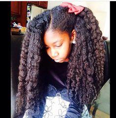she has some beautiful hair nice and long