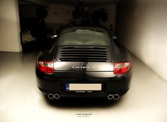 #porsche #911 #carrera 4 #car #racing #black #997 #garage