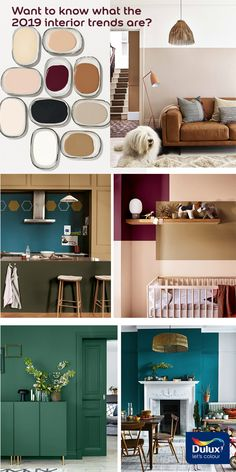 Want to know what we think the 2019 interior trends will be? From new neutrals to jewel tones, we give our predictions on the hottest colour trends for the year ahead. Dulux Green, Colour Trends, Colour Inspiration, Color Of The Year, Jewel Tones, Dream Homes, Gallery Wall, Colours, Paint