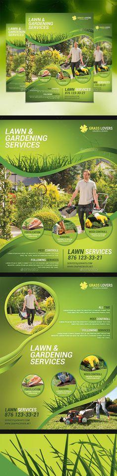 Lawn  Garden Services Pinterest Flyer template, Print templates - lawn services flyer
