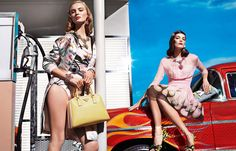 I'm drooling. Those shoes. That dress. Pretty much everything in Prada's new collection.