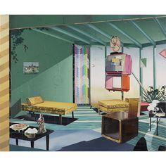 Mattias Weischer Zimmer 2004 Oil on canvas 55 x 67 Museum Of Contemporary Art, Contemporary Paintings, New Leipzig School, Studio, Art Blog, Art Day, Home Art, New Art, Painting & Drawing