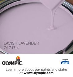 LAVISH LAVENDER OL717.4 is a part of the purples collection by Olympic® Paint.