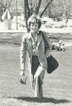 Maggie Smith photographed in Stratford, Ontario, Canada, 1976.