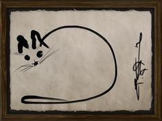 """""""drawing"""" of a cat I made usin Zen Brush on iPad."""