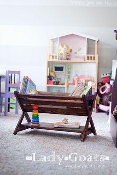 DIY X Book Caddy like Land of Nods - made for $20!  Free plans by Ana-White.com  #plans