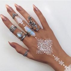 Stunning rings @indigo_lune we want them all ⭐️ #jewellery #silver #rings