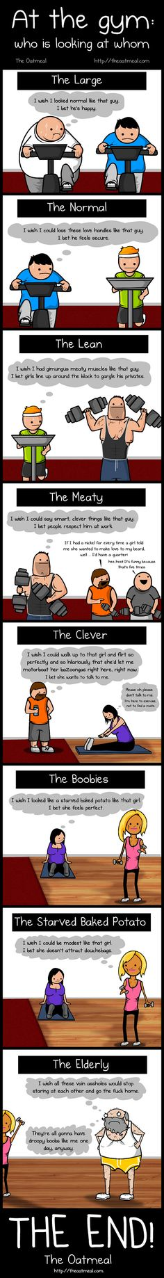 At the Gym: Who Is Looking at Whom | This is hilarious!