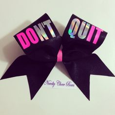 Black Don't Quit Do It Cheer Bow by NoveltyCheerBows on Etsy