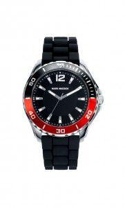Colección Elegant Sport - HC6007-55. Reloj de caballero 3 agujas. Esfera y correa color negra. Bisel a dos colores reloj y negro. Impermeable 30 metros (3 ATM). Precio: 39,00 €