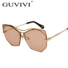 8e0309d8581c6 Borboleta Óculos De Sol Das Mulheres Dos Homens 2017 Marca Designer de Moda  Estilo Sem Aro