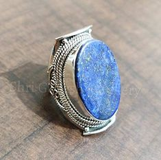 925 Silver, Silver Rings, Tibetan Jewelry, Victorian Jewelry, Lapis Lazuli, Statement Jewelry, Bridesmaid Gifts, Fashion Bags, Gifts For Mom