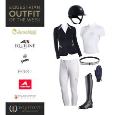 Equestrian Outfit of the Week 21 June 2017    This week's look provides an elegant competition outfit for all you ladies, featuring a number of sophisticated navy pieces with hints of sparkle and glamour.    See the full outfit blog here:  https://www.equiport.co.uk/…/equestrian-outfit-of-the-week…/