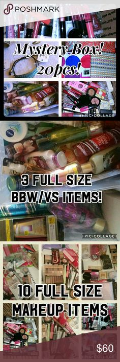 ⭐ Mystery beauty box! 20 full size items! See desc You get 20 pieces total, plus I always add bonuses!  10 full size makeup items (drugstore and mid end)  3 full size Victoria's Secret and Bath and Body Works fragrance items (lotions, sprays, gels)  5 pieces of new with tags World Market jewelry (current styles)  2 IPSY or Clinique makeup bags  I take requests for colors or products!  I have NEVER had someone unhappy, I've sold them on other sites for years.Well worth it! You DO NOT get…