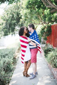 a little interracial #american love from @downtowndemure.com <3 #july4thfashion