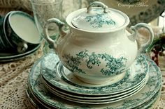transferware.  Love this color!