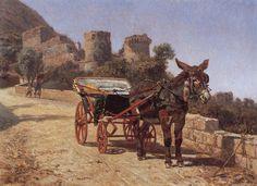 https://flic.kr/p/t6UGTU | Filippo Palizzi (1818-1899) - Carrozzella di Castellammare