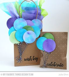 Gift Wrapping Inspiration : Birthday Balloon Bags by Julie Dinn Creative Birthday Gifts, Birthday Gift Bags, Cute Birthday Cards, Best Birthday Gifts, Creative Gifts, Birthday Gift Wrapping, Decorated Gift Bags, Gift Baskets For Women, Creative Gift Wrapping