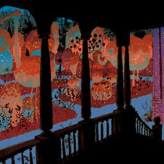 Uesugi's take on the Fantastic Garden at night.