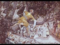Zacchaeus in the Sycamore Tree, by James Tissot This image is to be used for Church purposes only. Family Scripture, Scripture Study, Passage Writing, Lds Clipart, Zacchaeus, Bible Dictionary, Doctrine And Covenants, Seek The Lord, Family Home Evening