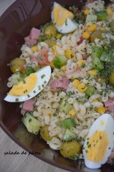 salade de pâtes coquillette sauce onctueuse