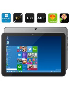 Chuwi Tablet PC - 12 Inch IPS Screen, Windows 10 + Android Intel Cherr, Consumer Electronics on sale at CQout Online Auctions 10 Inch Android Tablet, 10 Inch Tablet, Pc Android, New Tablets, Cool Electronics, Consumer Electronics, Online Gift Shop, 4gb Ram, Good And Cheap
