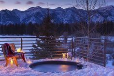 I want to soak in a hot tub outside with my hubby while enjoying our favorite beverage!